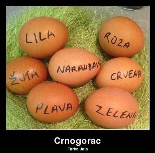 Kako crnogorac farba jaja
