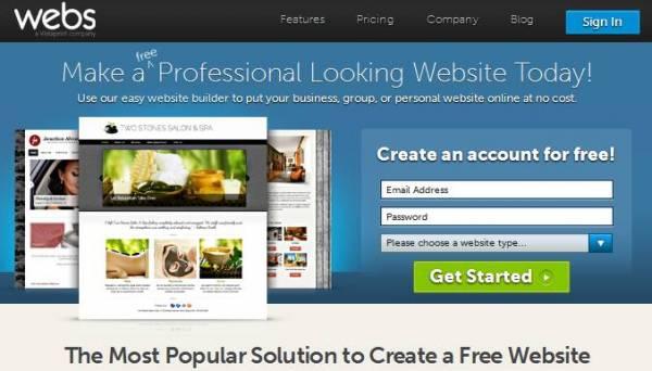 besplatno pravljenje web sajta