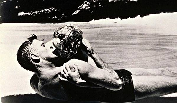 Burt Lancaster and Vivien Leigh in From Here to Eternity