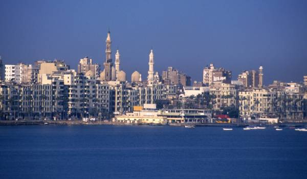 The port city of Alexandria Egypt