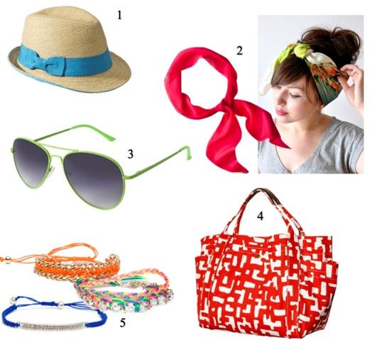 šeširi, naočare, letnje marame,  torbe za plažu