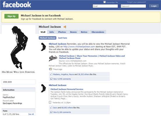 Fan stranica Majkla Džeksona je najpopularnija na Fejsbuku