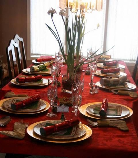 ukrasavanje stolova za Bozic