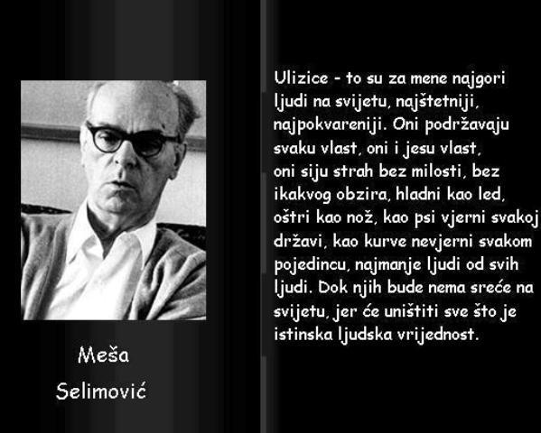 Meša Selimović, velikan srpske književnosti.