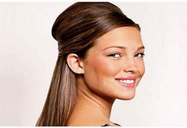 Elegantna frizura za srcoliko lice
