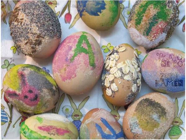 Ukrasavanje jaja grizom
