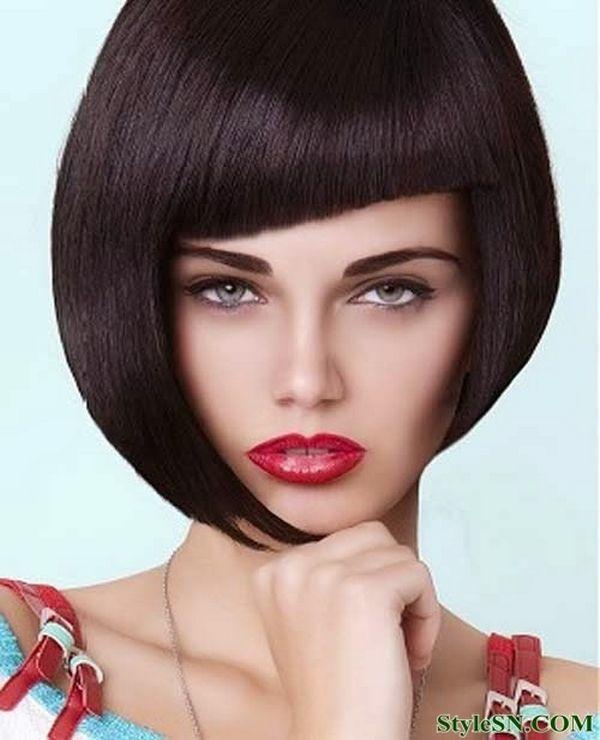 Asimetrična bob frizura sa šiškama