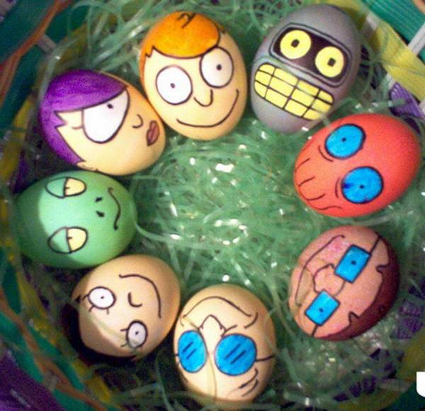 bojenje jaja sa flomasterima