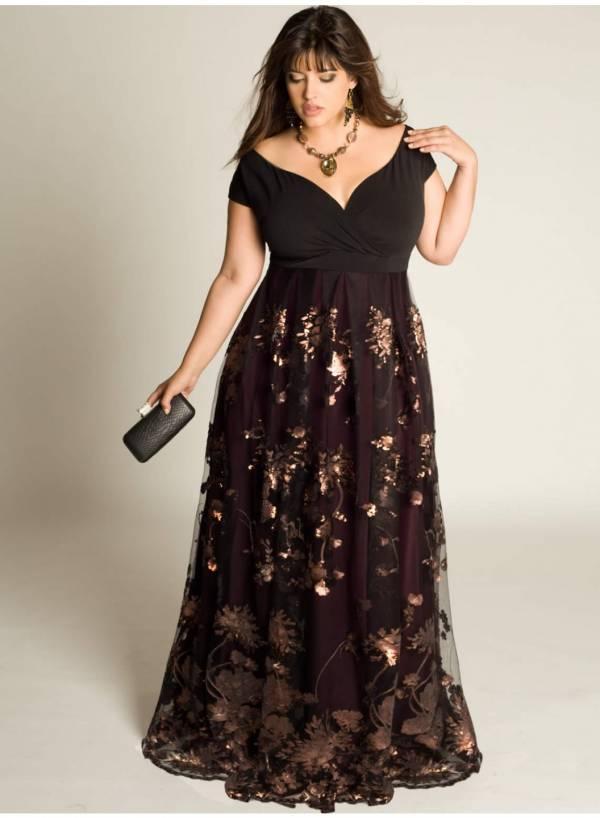 Duge čipkaste haljine za punije dame