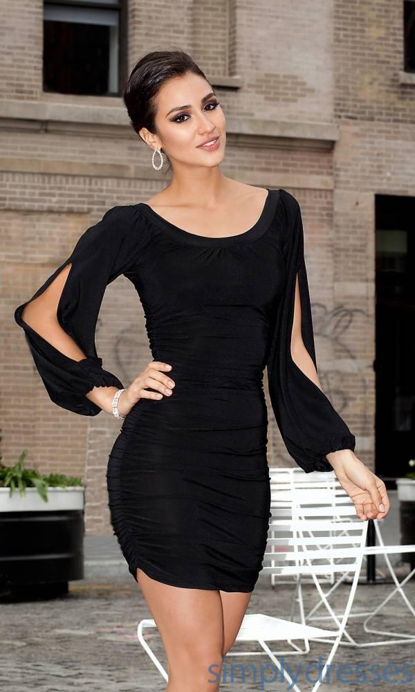 crna haljina dug rukav