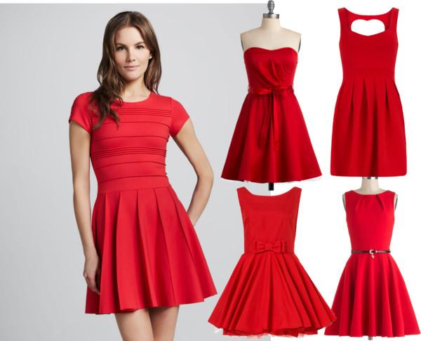 jednostavne crvene haljine