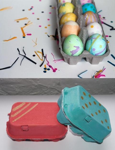 I kartone za jaja možete iskoristiti kao uskršnju dekoraciju