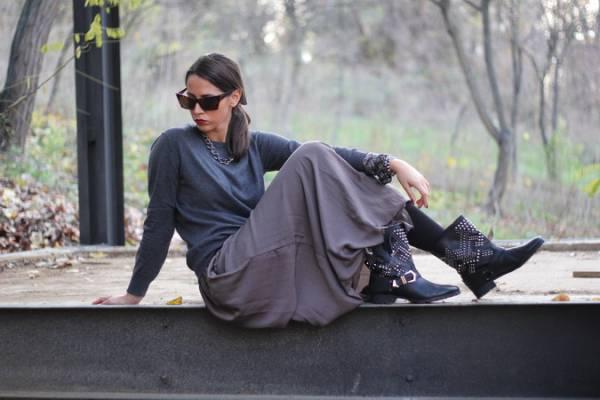 duga suknja cizme