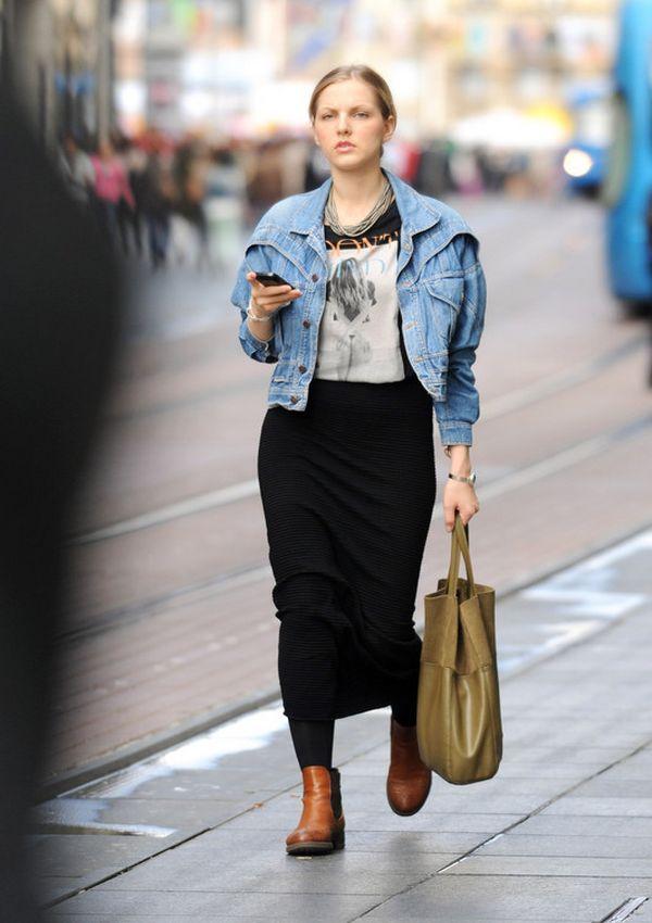 Duga crna suknja
