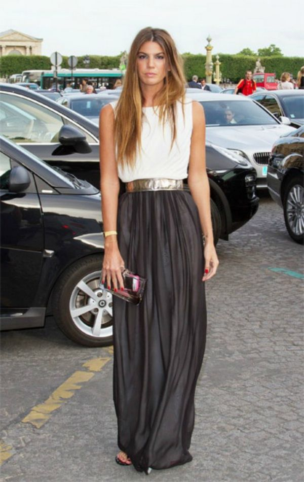 Duga elegantna suknja