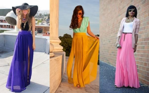 Duge suknje u jarkim bojama