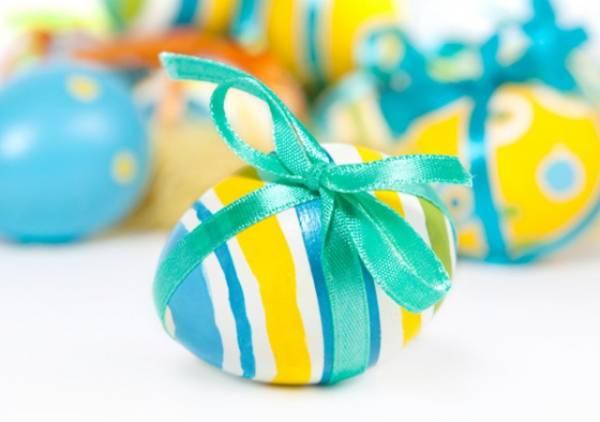 Uskršnja jaja ukrasite mašnicom od satena