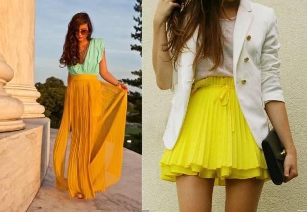 Plisirane suknje u kombinaciji sa sakoom