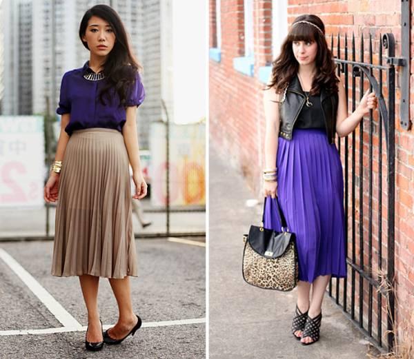 Plisirana suknja uz kožni prsluk i elegantnu košulju