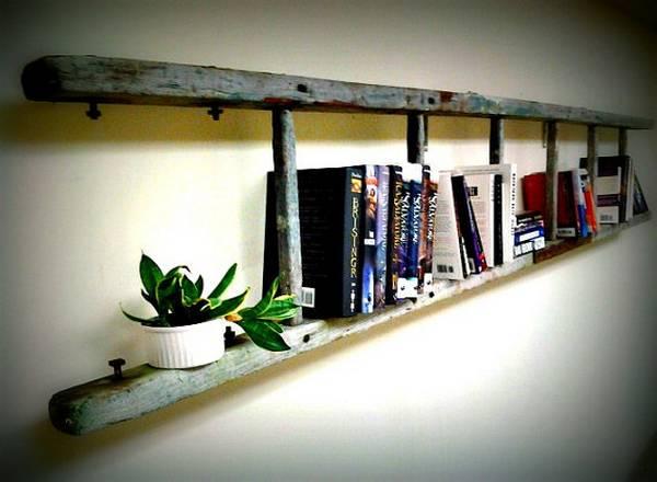 polica-za-knjige-merdevine