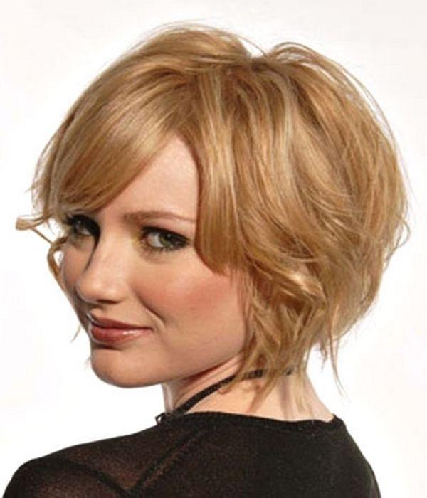 Stepenasta frizura za okrugllo lice
