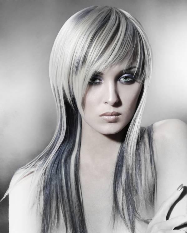 Stepenasta frizura za dugu ravnu kosu