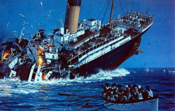 Titanik - najveća pomorska katastrofa u vreme mira. Preko 1500 ljudi utopilo se u ledenom Atlantiku.