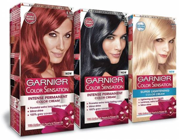 Garnier Color sensation su takođe veoma popularne farbe za kosu