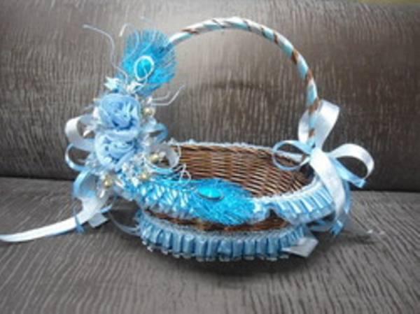 dekorativne korpe za cvetove za svadbu