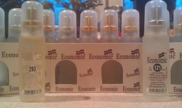 Od muških Ekonomik parfema najtraženiji su 124, 115, 68...