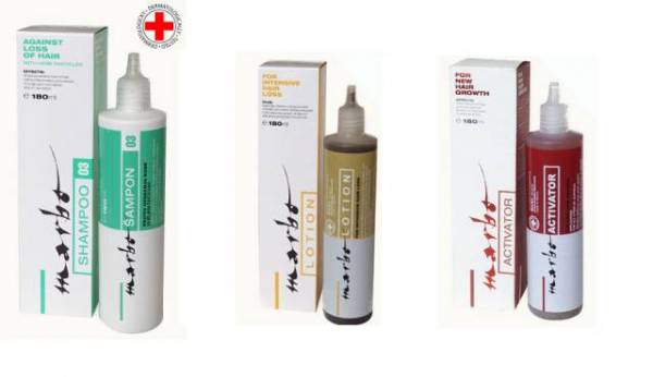 Marbo kolekcija: šampon, losion i altivator
