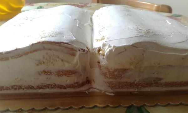 otvorena knjiga torta
