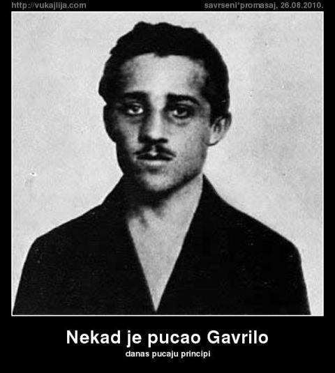 "Gavrilo Princip kao večita inspiracija. Poster preuzet sa sajta ,,Vukajlija"""