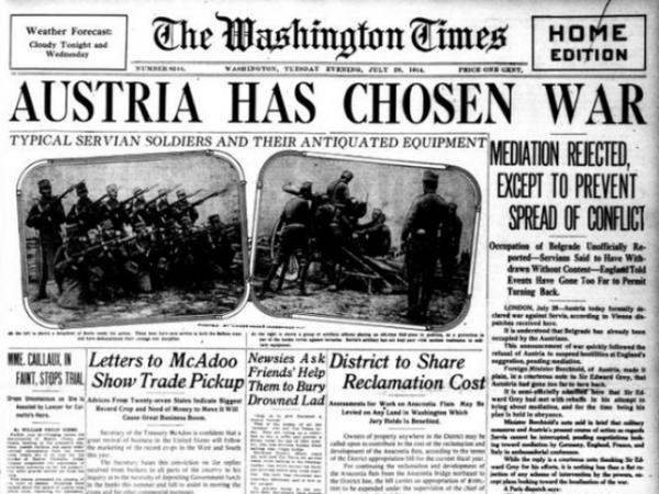 I američka štampa je pisala o julskom ultimatumu i situaciji na Balkanu.