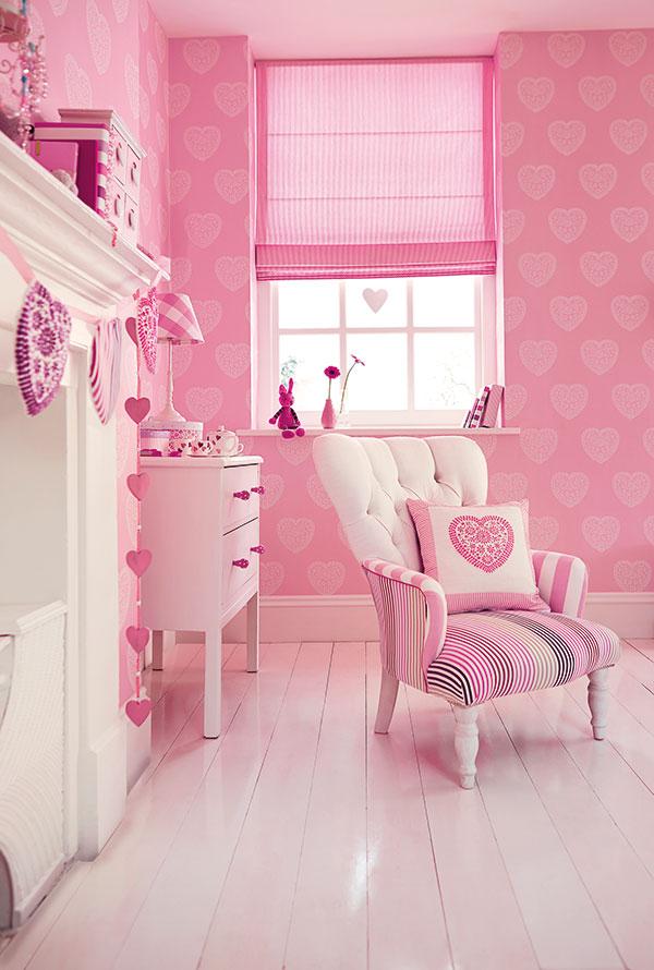 soba za devojcice roze