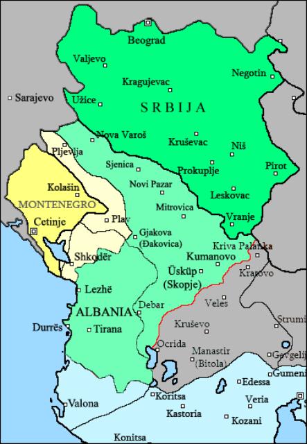 Nakon Prvog balkanskog rata stvorena je Kneževina Albanija