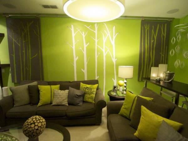 zelena boja za dnevnu sobu