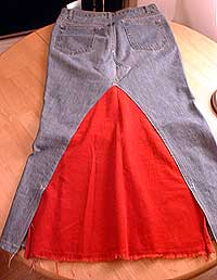 suknja dodavanje tkanine