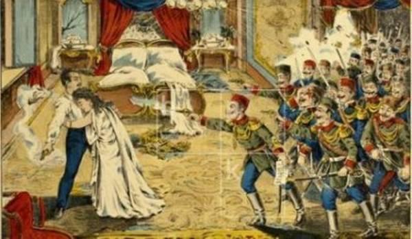 1902. godine počinju pobune protiv kralja Aleksandra, koje će dovesti do Majskog prevrata i kraja dinastije Obrenović