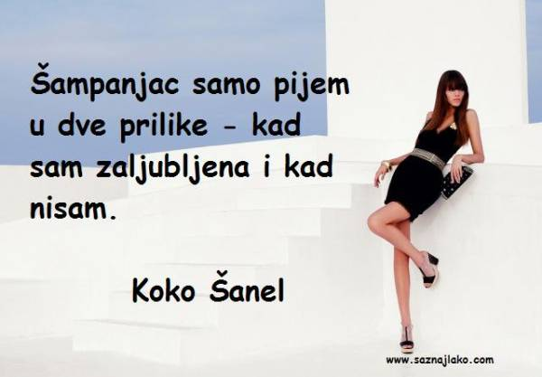 Citati o ljubavi - Koko Šanel
