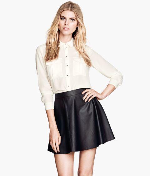 """Crne kožne suknje iz kolekcije ,,H&M"""""""