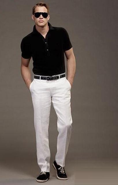 Bele pantalone za muškarce