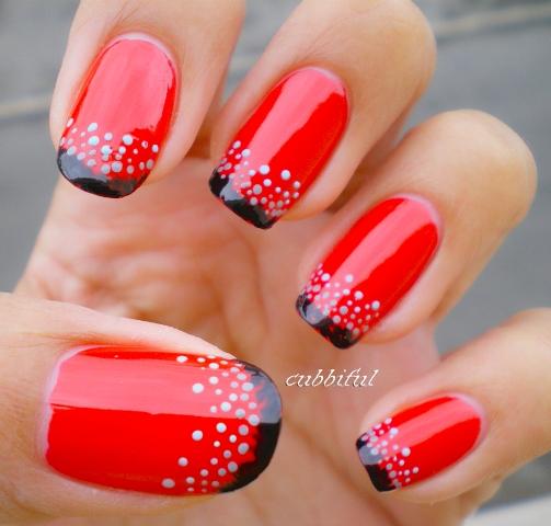 crveni nokti sa sarama