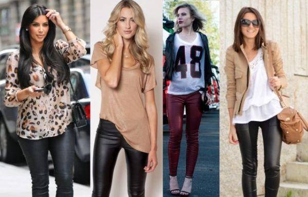 Uz crne kožne helanke, birajte majice otvorenijih boja.