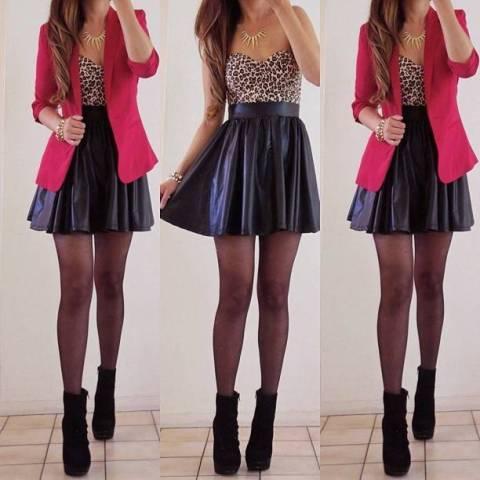 Šta obuti uz kožnu suknju?