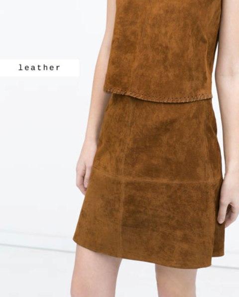 ",,Zara"" suknja od prevrnute kože"