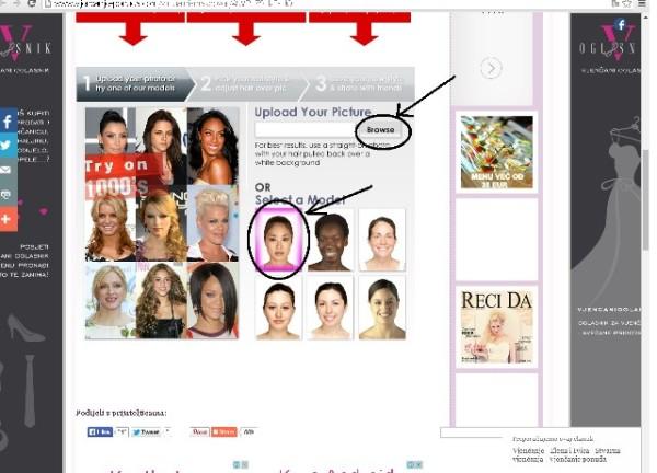 program za odredjivanje frizure 1