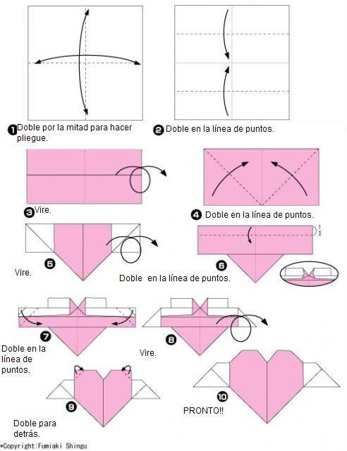 Origami srce