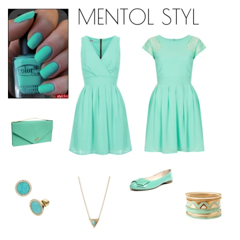 mentol zelena haljina