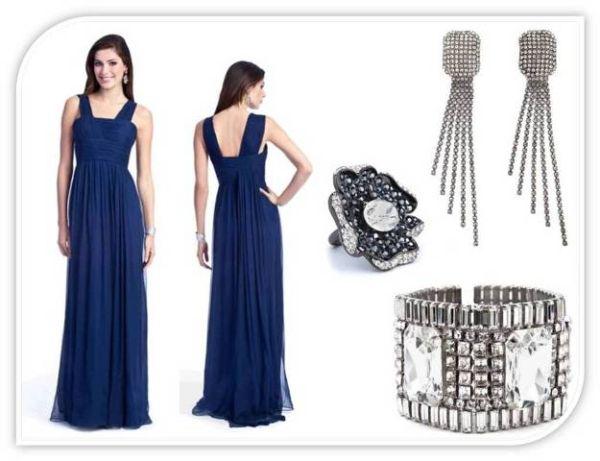 Kakav nakit birati uz plavu haljinu?